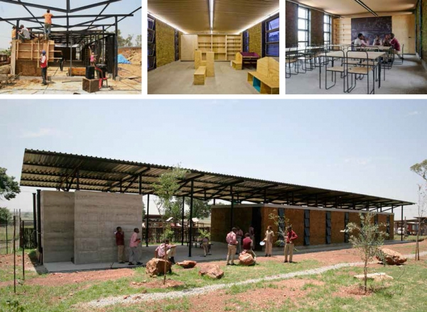 2010 Classroom and Library | Faculty of Architecture, University of Ljubljana | Ithuba Community College, Johannesburg, South Africa