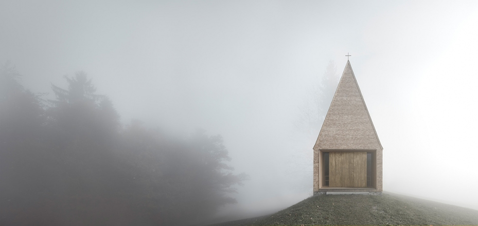 2017 Piranesi Award: Chapel Salgenreute Krumbach, Austria, 2016, architect Bernardo Bader, photo Adolf Bereuter